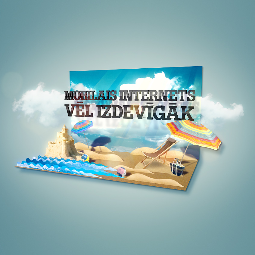 Pop-up book style TV advertisement for one of the largest mobile services provider in Latvia.