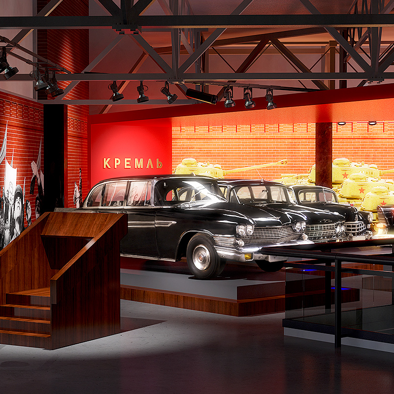 Visualizations for Riga Motor Museum exhibiton update.