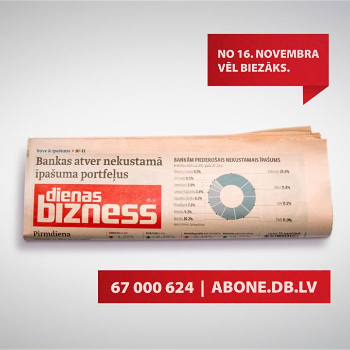 3D Animation for a newspaper Dienas Bizness.