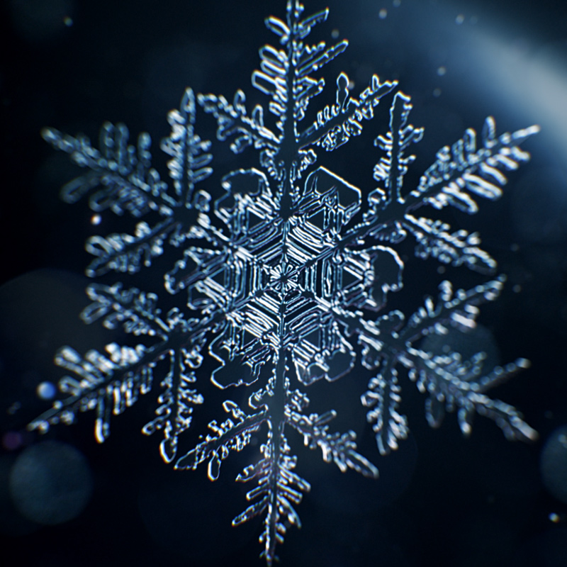 snowflake growth 3d animation