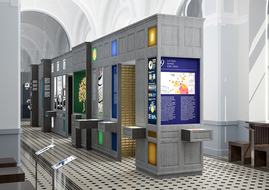 Bank of Latvia 3D Illustrations