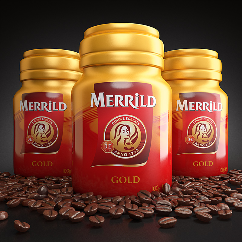 Renders of new Merrild Coffee's packaging design